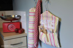 DIY Peg bag sewing project + carrier bag dispenser